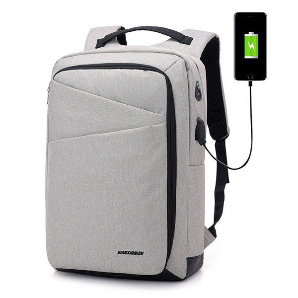 Business Casual Waterproof USB Charging Port 16 Inch Laptop Bag Backpack For Men