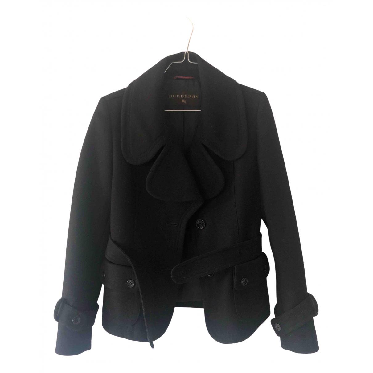 Burberry N Black Wool jacket for Women 42 IT