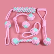 7 Stuecke Hundespielzeug mit Baumwollseil