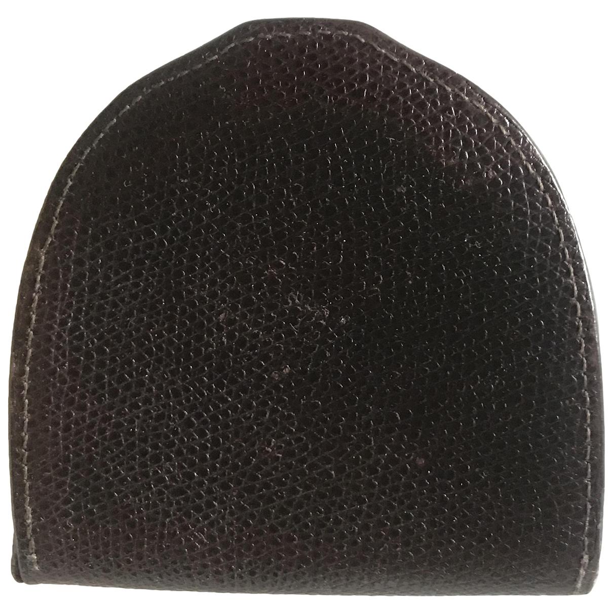 Valextra - Petite maroquinerie   pour homme en cuir - marron