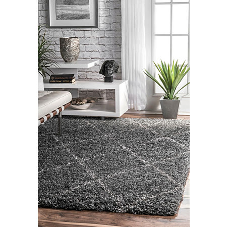 nuLoom Shanna Shaggy Area Rug, One Size , Gray