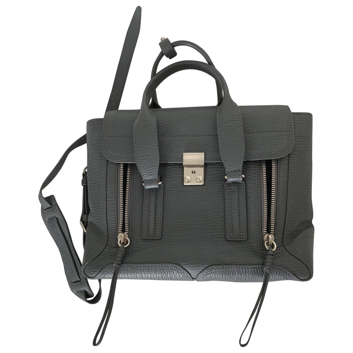 3.1 Phillip Lim Pashli Handtasche in  Grau Leder