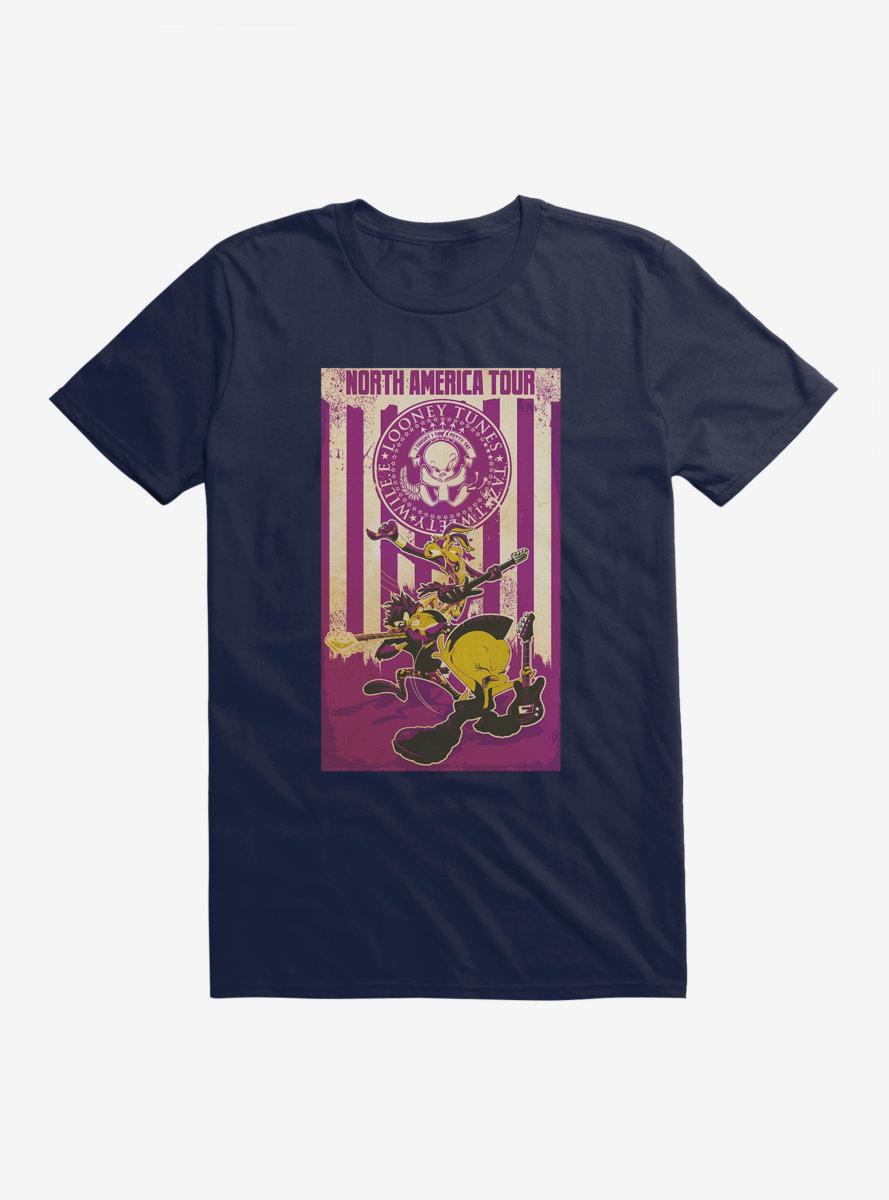 Looney Tunes North America Tour Purple Color T-Shirt