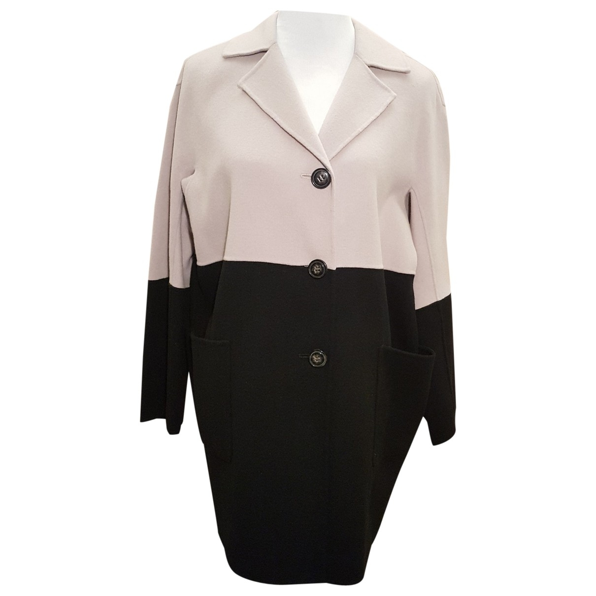 Non Signé / Unsigned Oversize Wool coat for Women 40 FR