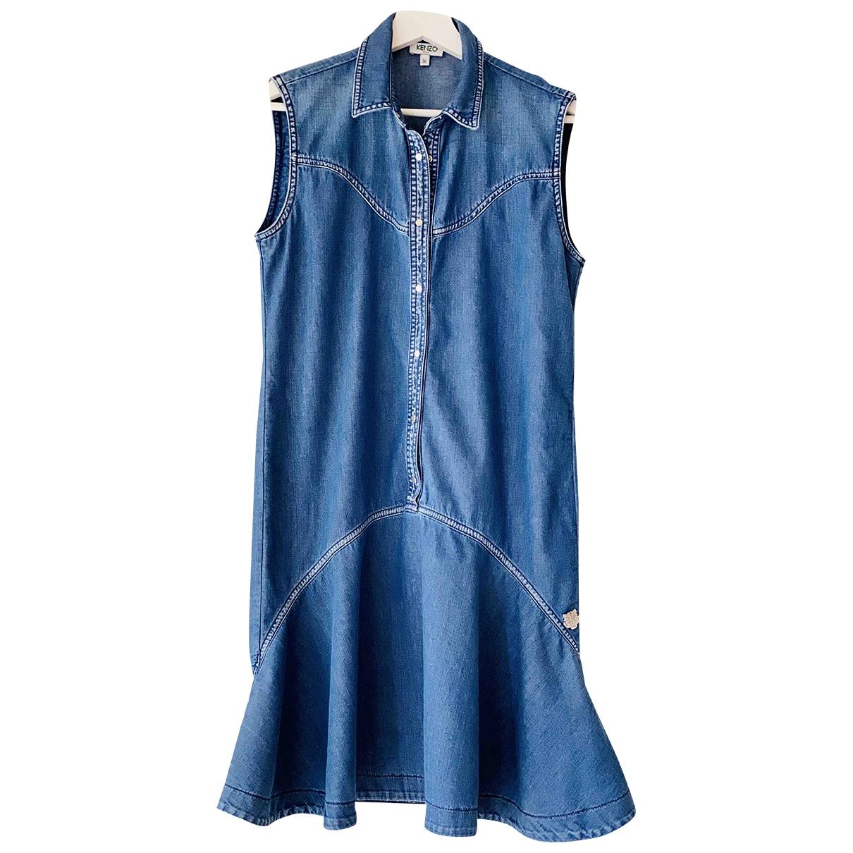 Kenzo \N Kleid in  Blau Denim - Jeans