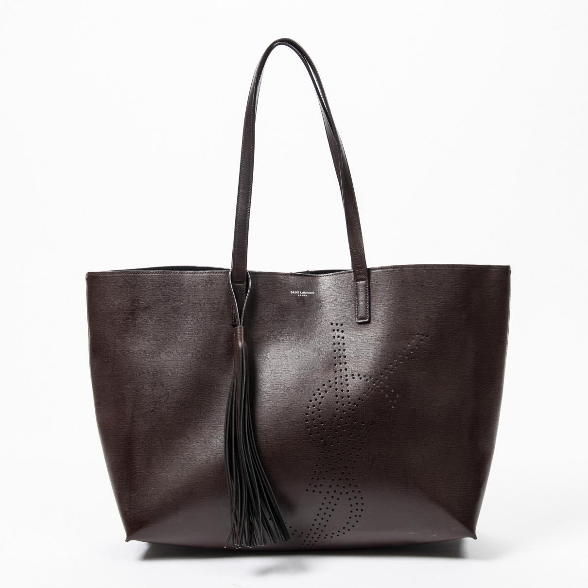 Yves Saint Laurent \N Brown Leather handbag for Women \N