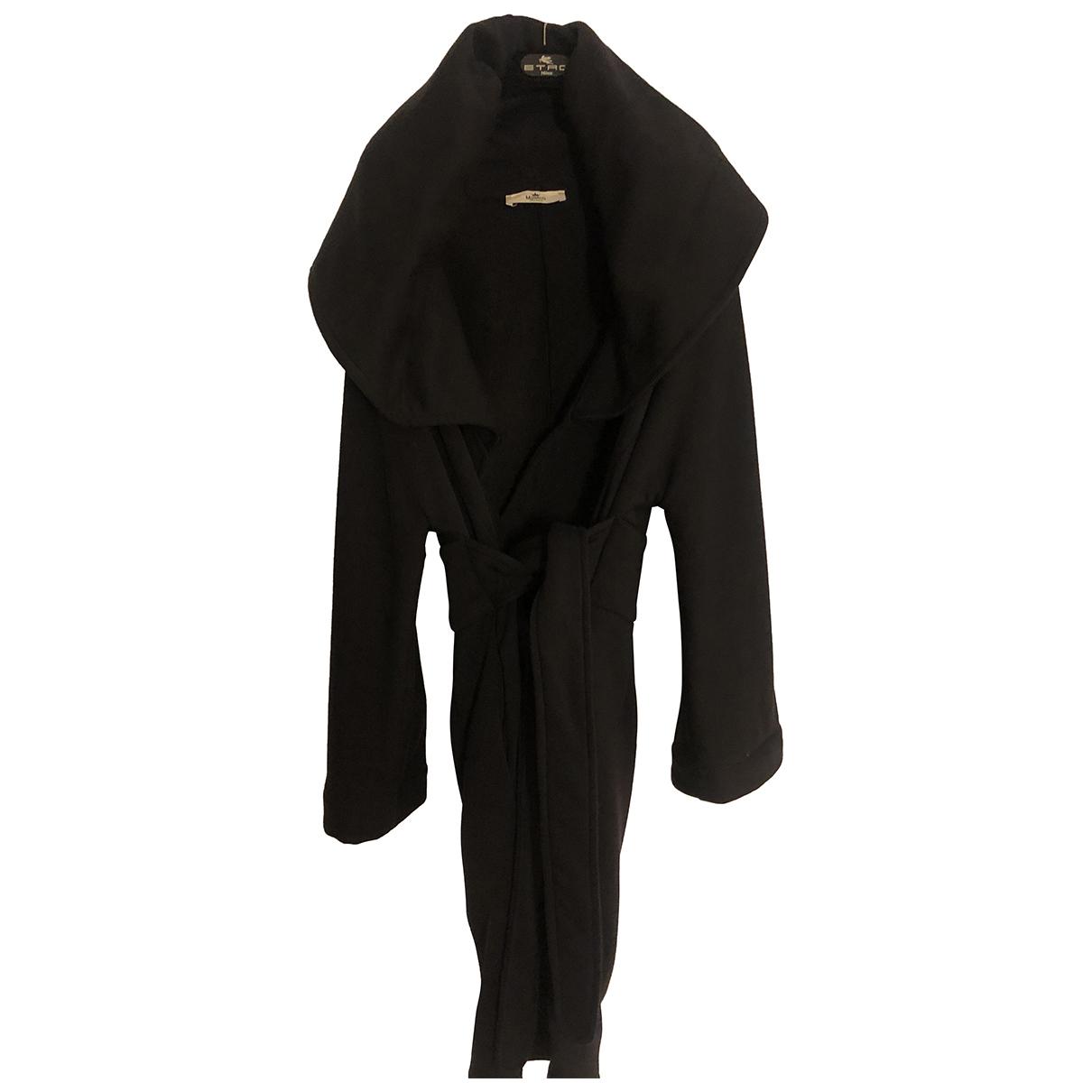 - Manteau Oversize pour femme en coton - noir
