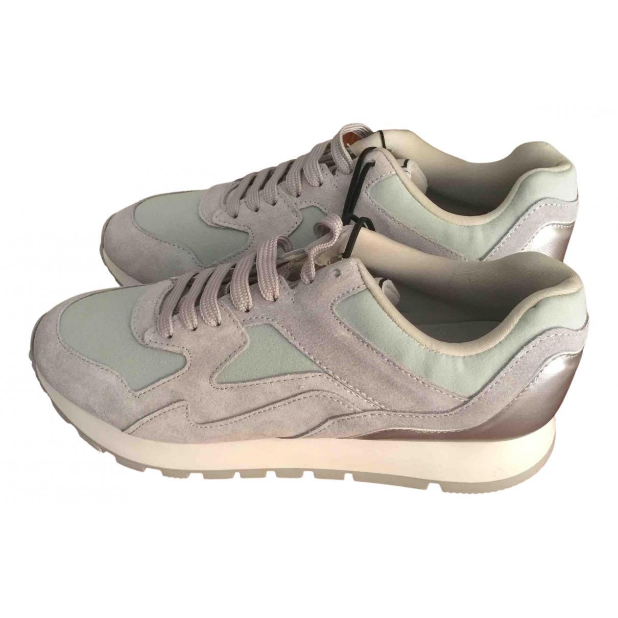 Zara - Baskets   pour femme en suede - gris