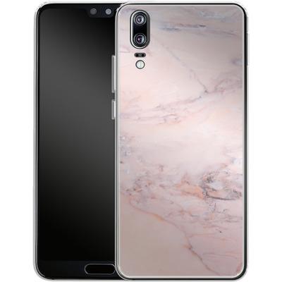 Huawei P20 Silikon Handyhuelle - Blush Marble von Emanuela Carratoni