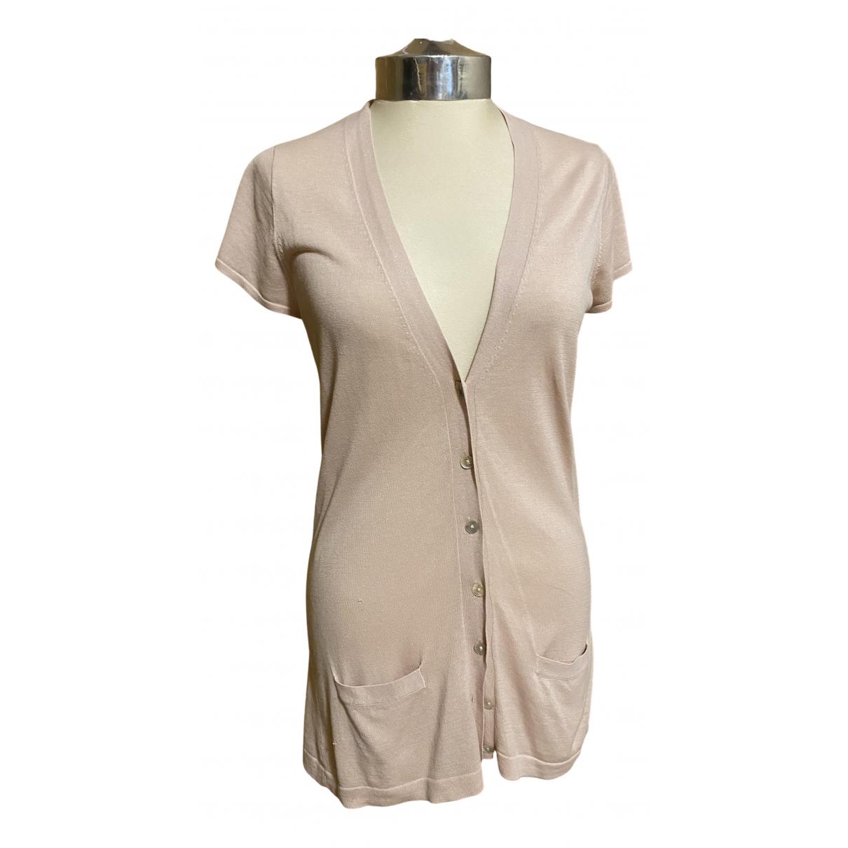 Zara - Pull   pour femme en soie - rose