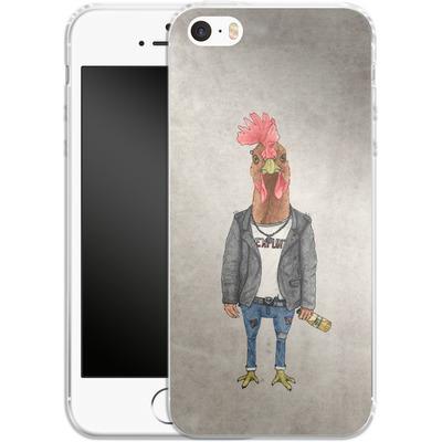 Apple iPhone 5 Silikon Handyhuelle - Punk Rooster von Barruf