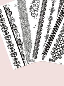4sheets Lace Tattoo Sticker