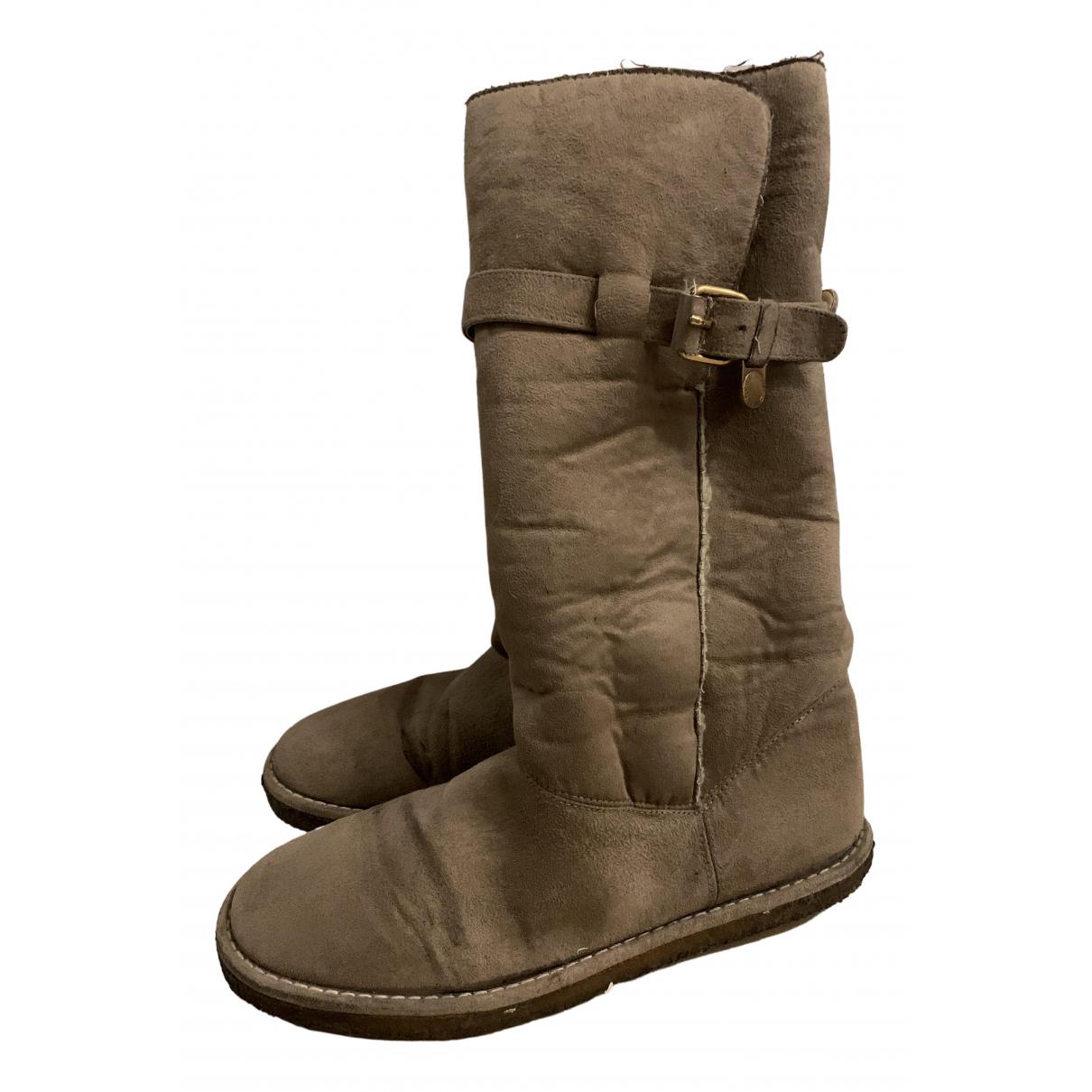 Stella Mccartney N Beige Cloth Boots for Women 40 IT