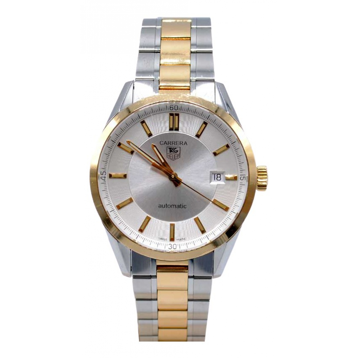 Tag Heuer Carrera Silver gold and steel watch for Men \N