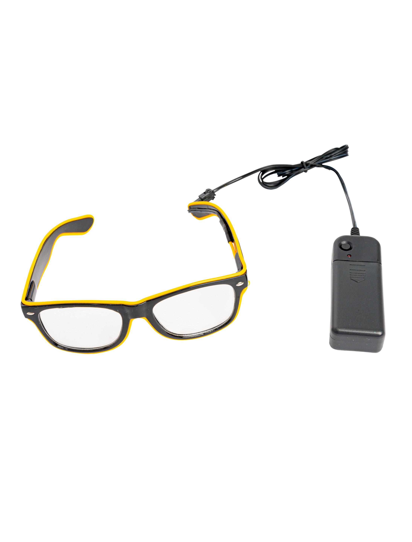 Kostuemzubehor LED Brille schwarz/gelb