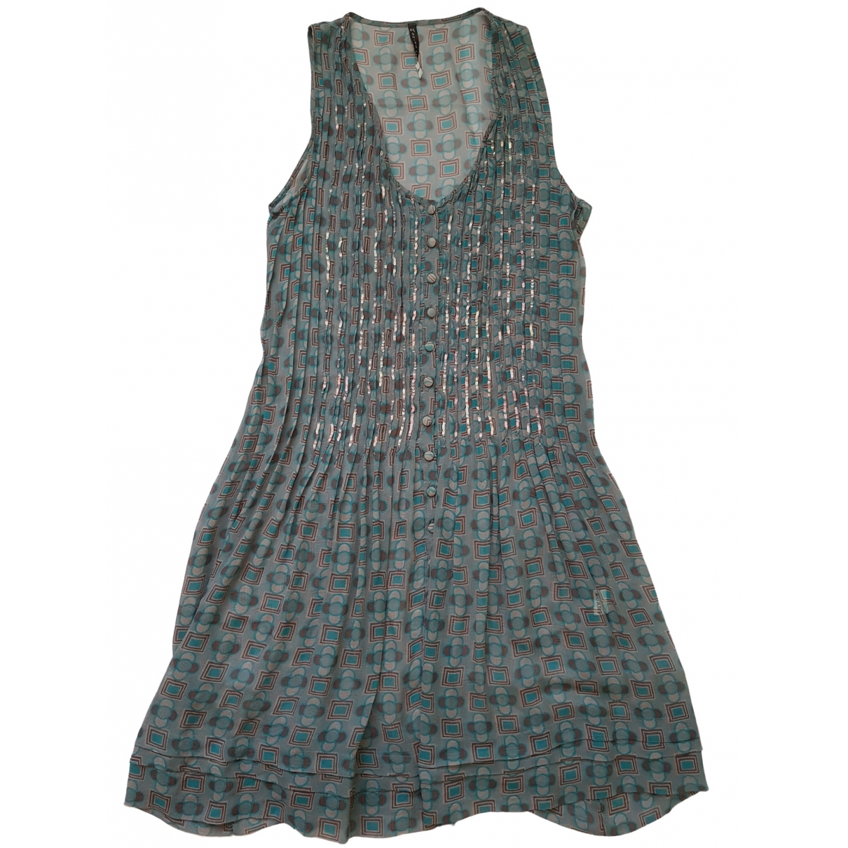 Non Signé / Unsigned \N Turquoise Glitter dress for Women 46 IT