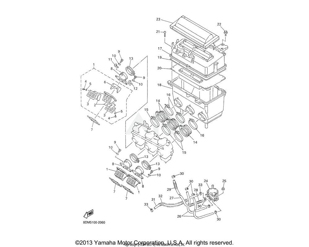 Yamaha OEM 8CH-13621-01-00 GASKET, VALVE SEAT