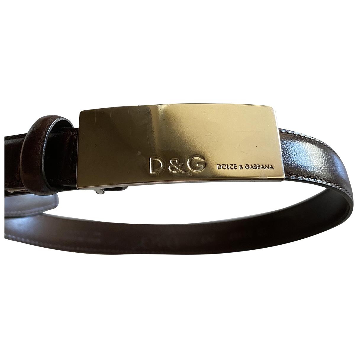 D&g \N Black Leather belt for Women 75 cm