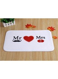 Romantic Mr and Mrs In Love Doormat