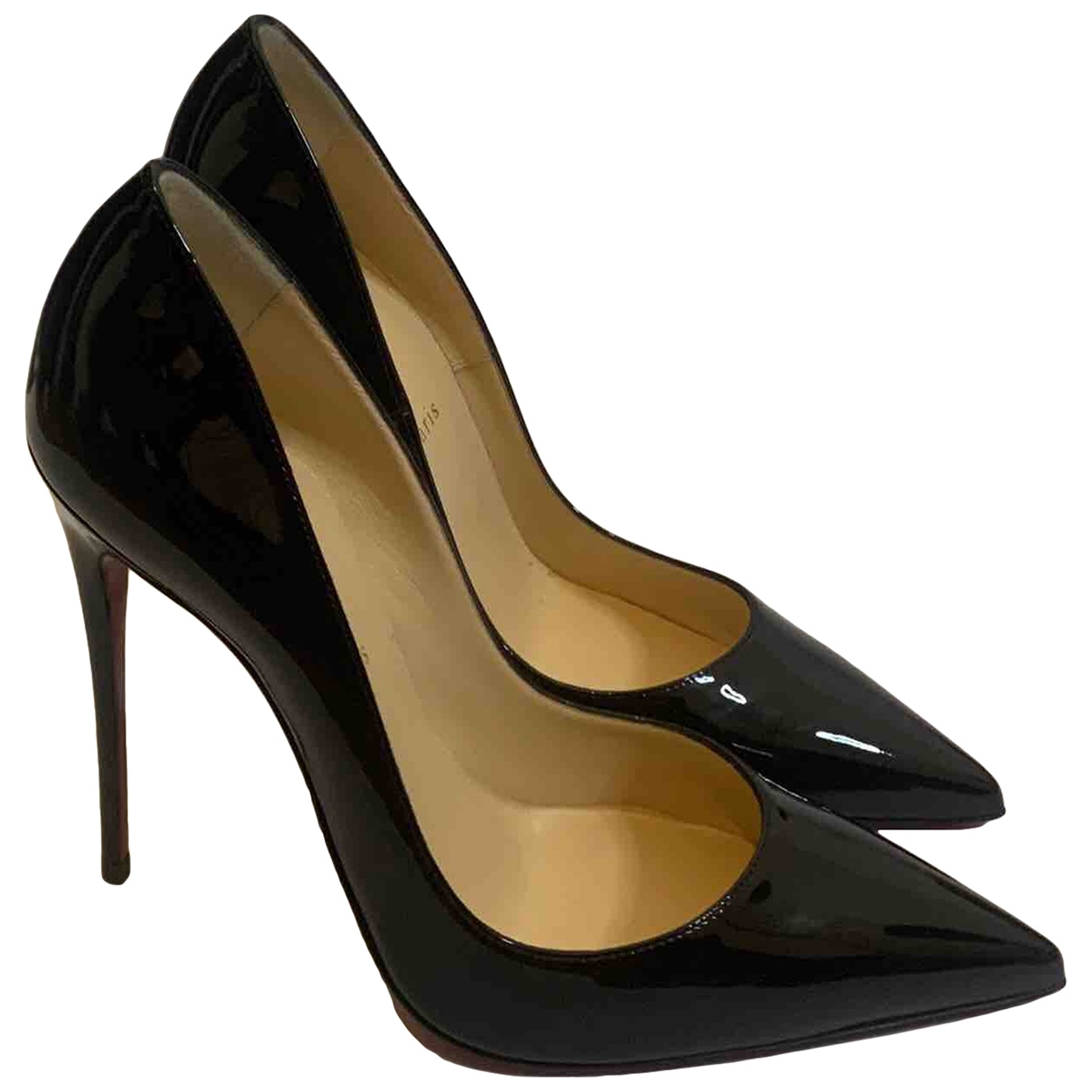 Christian Louboutin So Kate  Black Leather Heels for Women 40 EU