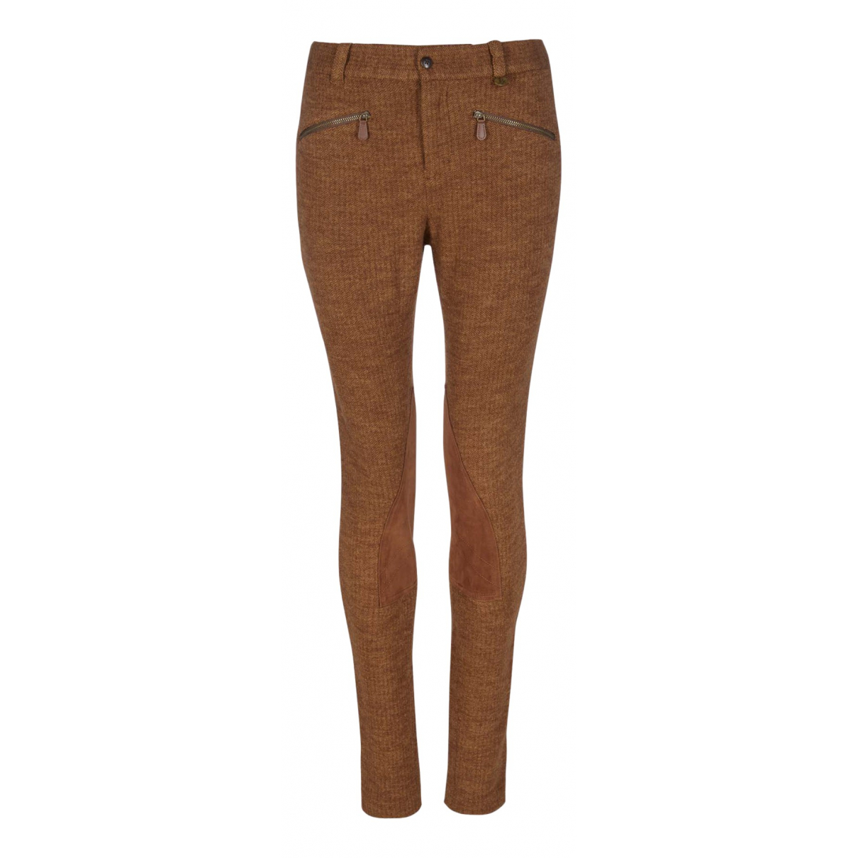 Ralph Lauren N Brown Wool Trousers for Women 10 UK