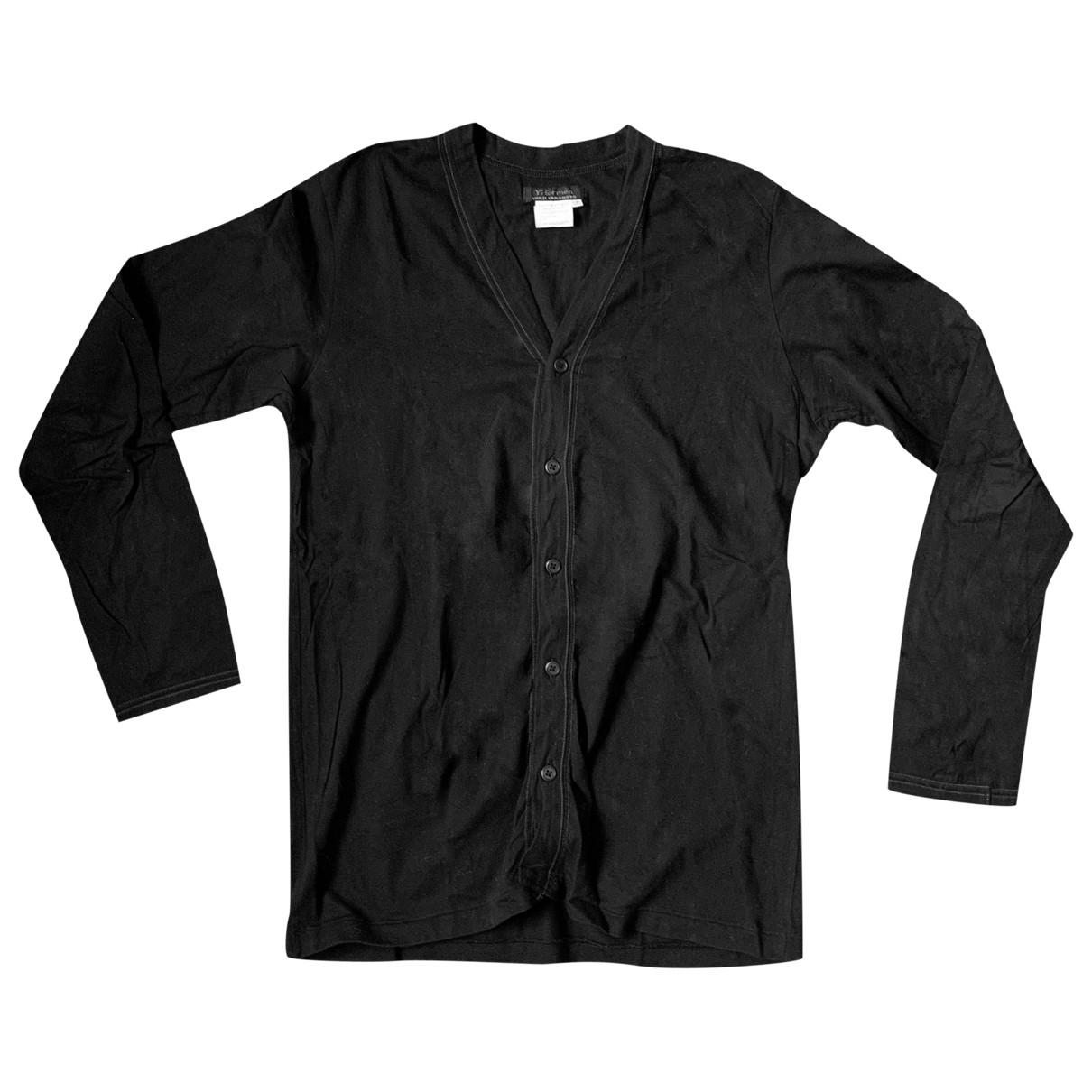 Y-3 By Yohji Yamamoto \N Pullover.Westen.Sweatshirts  in  Schwarz Baumwolle
