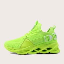 Zapatos de hombres de color neon con cordon delantero
