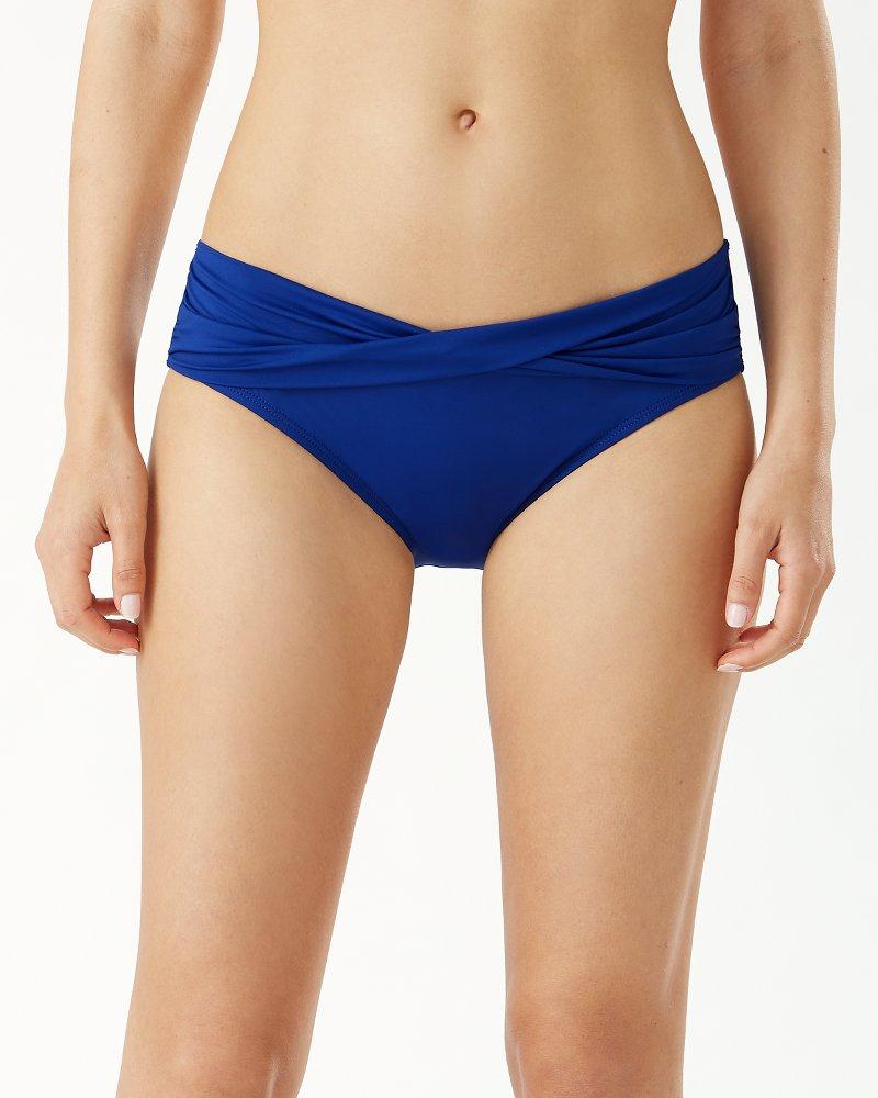 Pearl High-Waist Twist-Front Bikini Bottoms