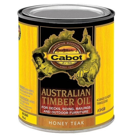 Cabot 04-3458 Timber Oil Penetrating Oil Formula, Honey Teak, 1 Quart (No)