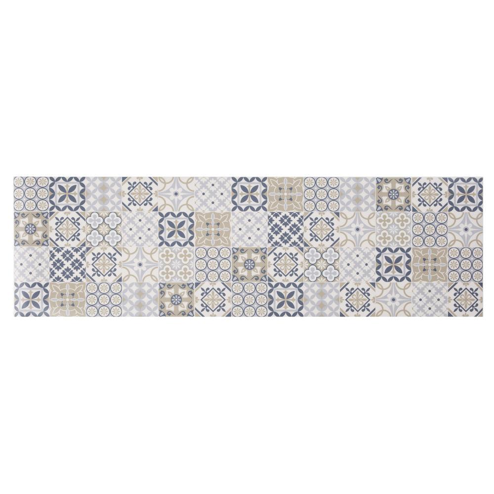 Vinyl-Teppich mit bunten Zementfliesen-Motiven 60x199