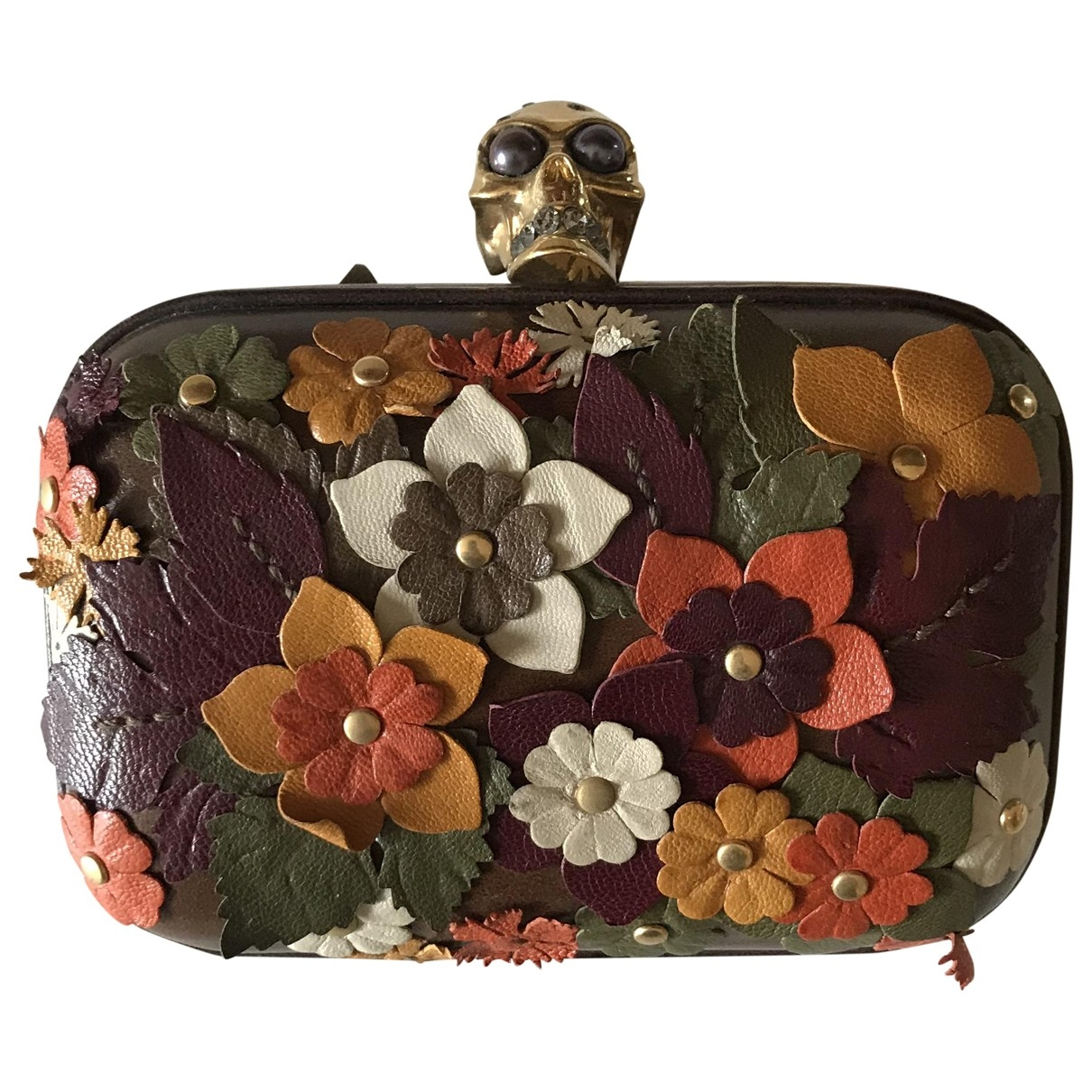 Pochette Skull de Cuero Alexander Mcqueen