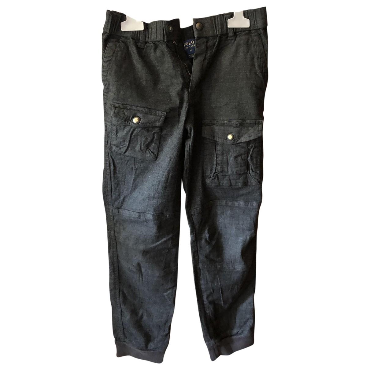 Pantalones en Algodon Gris Polo Ralph Lauren