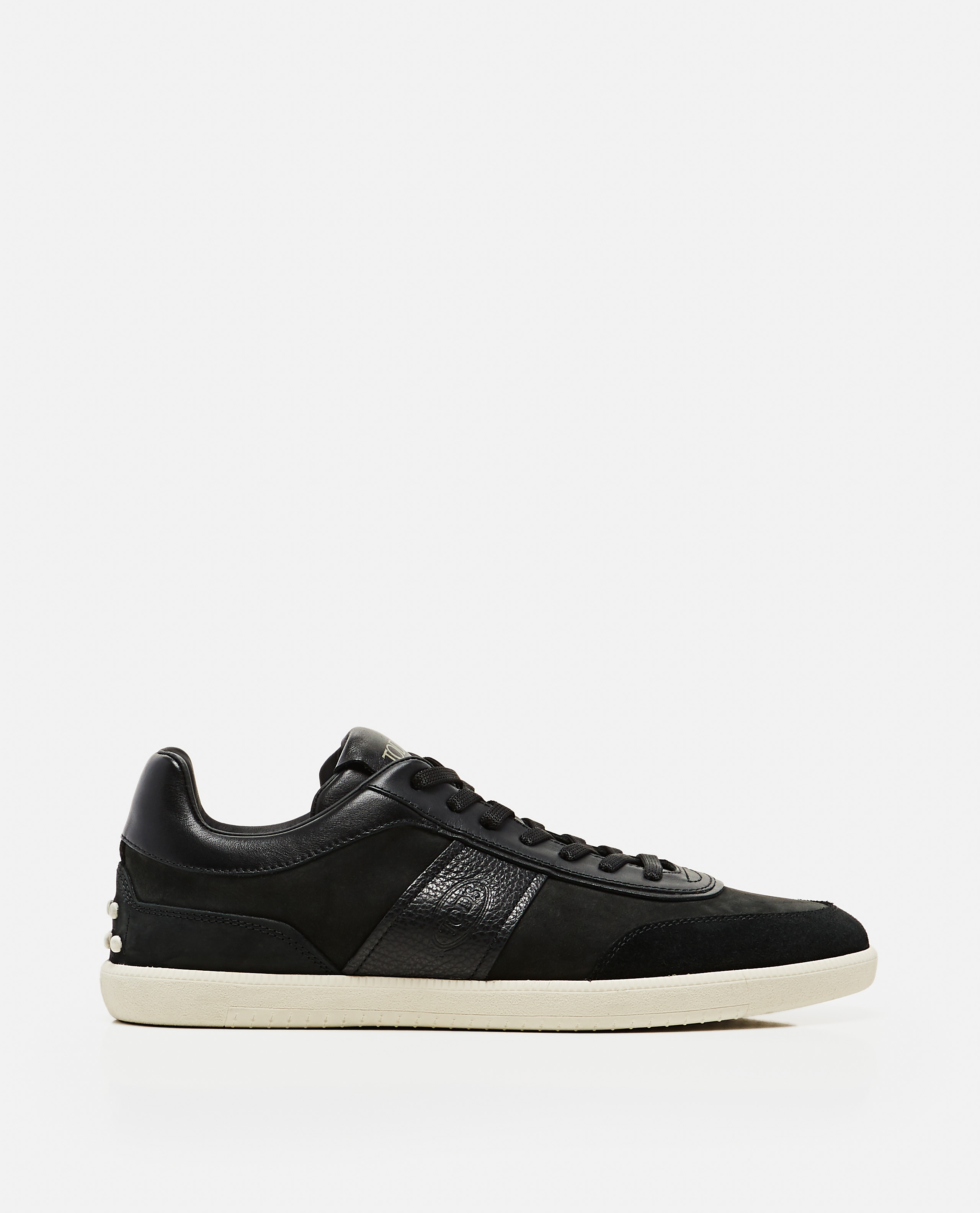 Lace-up sneakers in leather