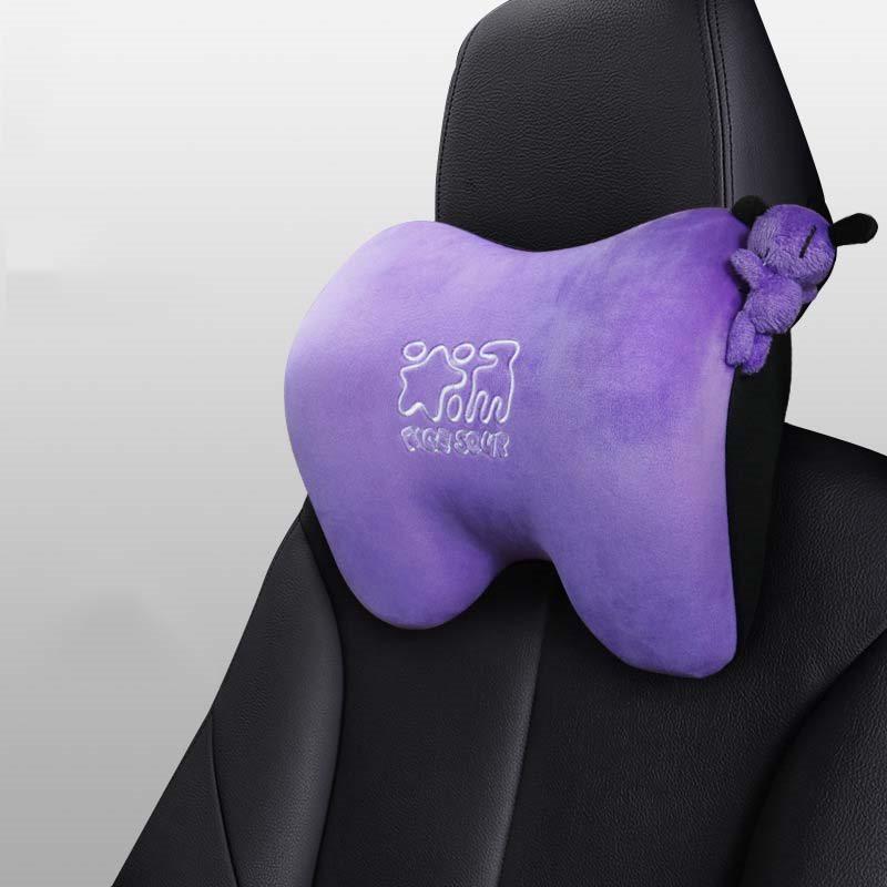 Memory Cotton Car Cartoon Headrest Vehicle-Mounted Neck Pillow Seat Headrest
