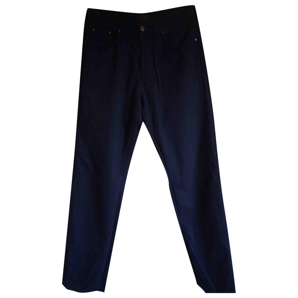 Pantalones en Algodon Azul Versace Jeans