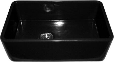 WH3018-BLACK Duet reversible fireclay sink with smooth front