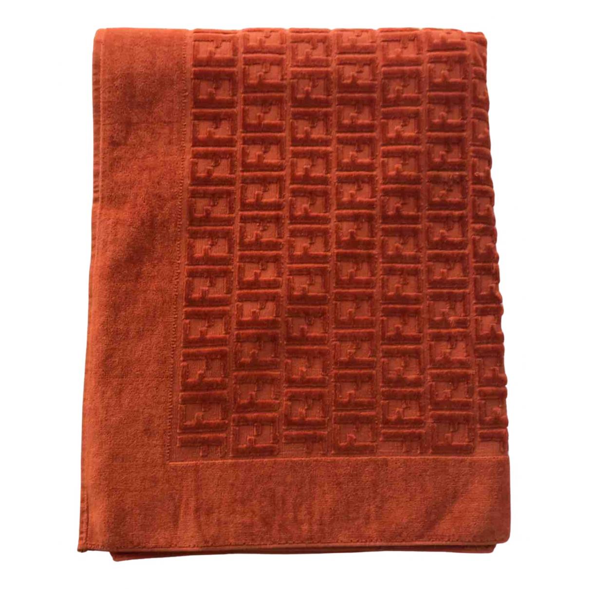 Fendi - Linge de maison FF pour lifestyle en coton - orange