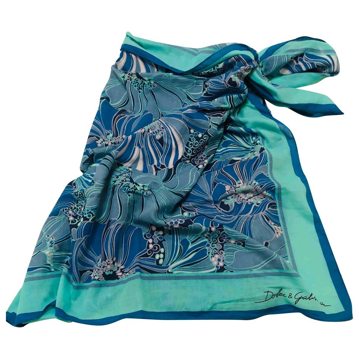 Dolce & Gabbana \N Schal in  Blau Baumwolle