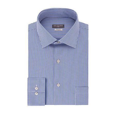 Van Heusen Flex Collar Dress Long Sleeve Shirt, 16.5 34-35, Blue