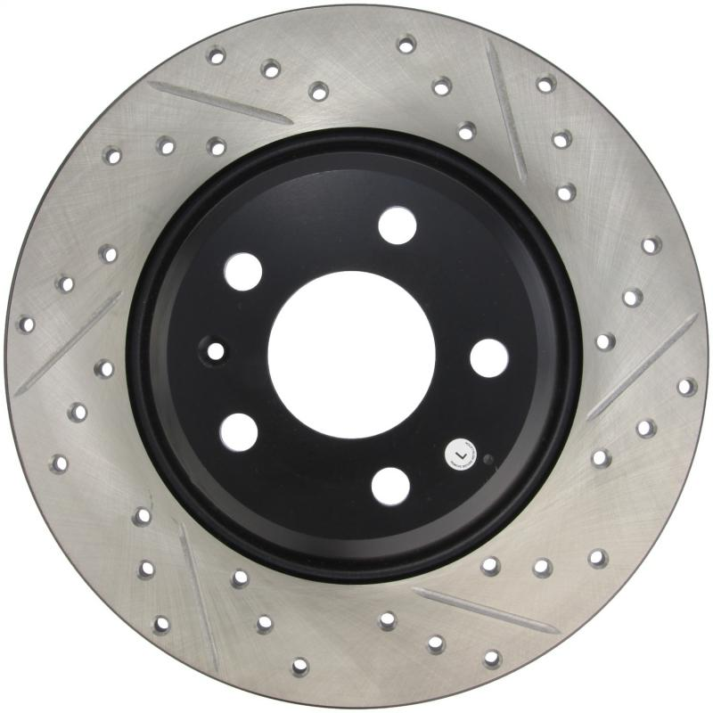 StopTech 127.33127L Sport Drilled/Slotted Brake Rotor; Rear Left Audi Rear Left