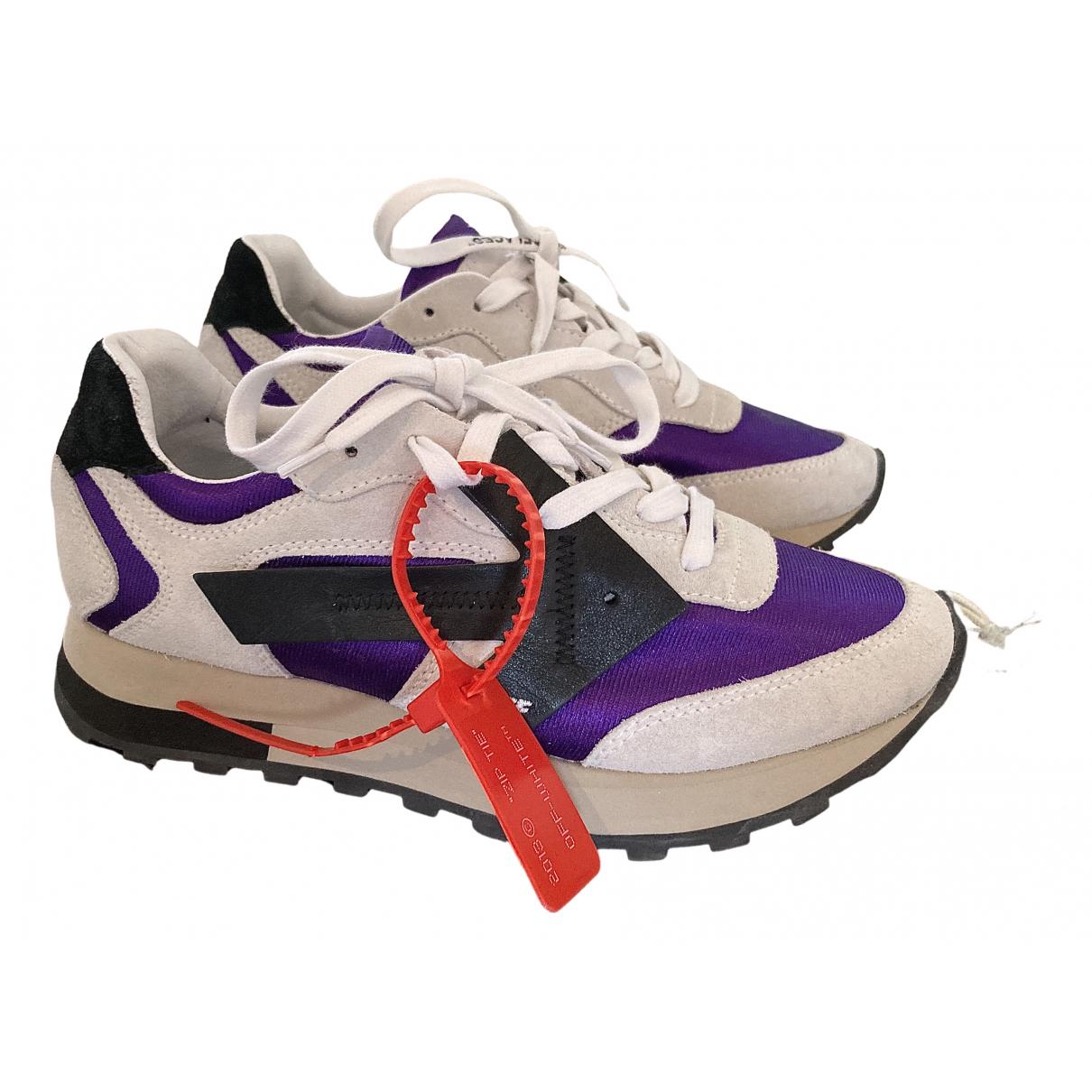 Off-white Runner Sneakers in  Weiss Leder