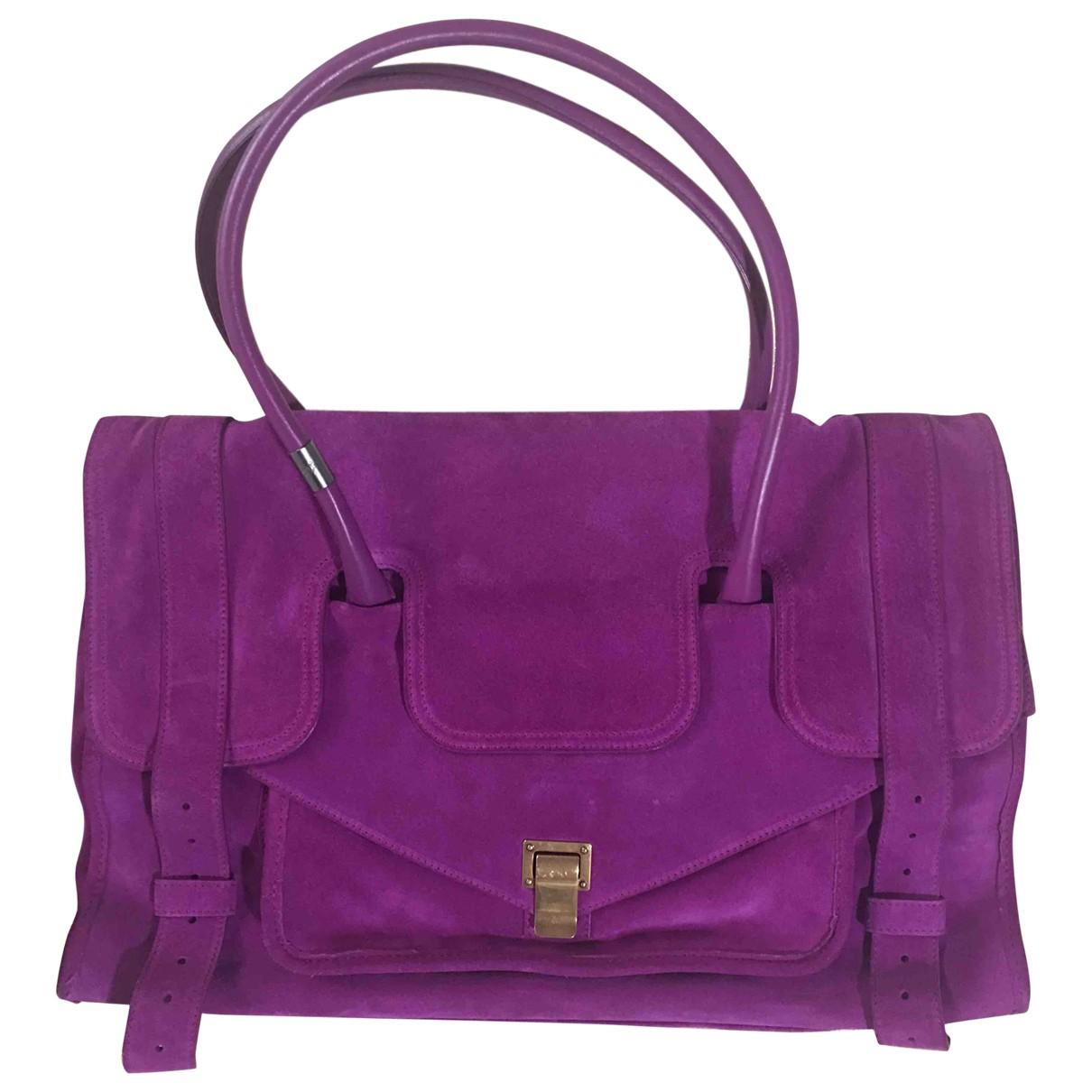 Proenza Schouler PS1 Large Purple Suede handbag for Women \N
