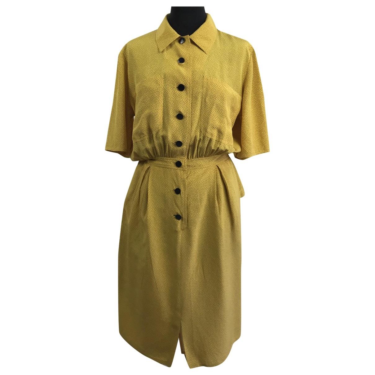 Valentino Garavani \N Kleid in  Gelb Seide