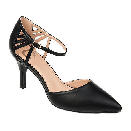 Journee Collection Womens Mia Pointed Toe Stiletto Heel Pumps, 6 Medium, Black
