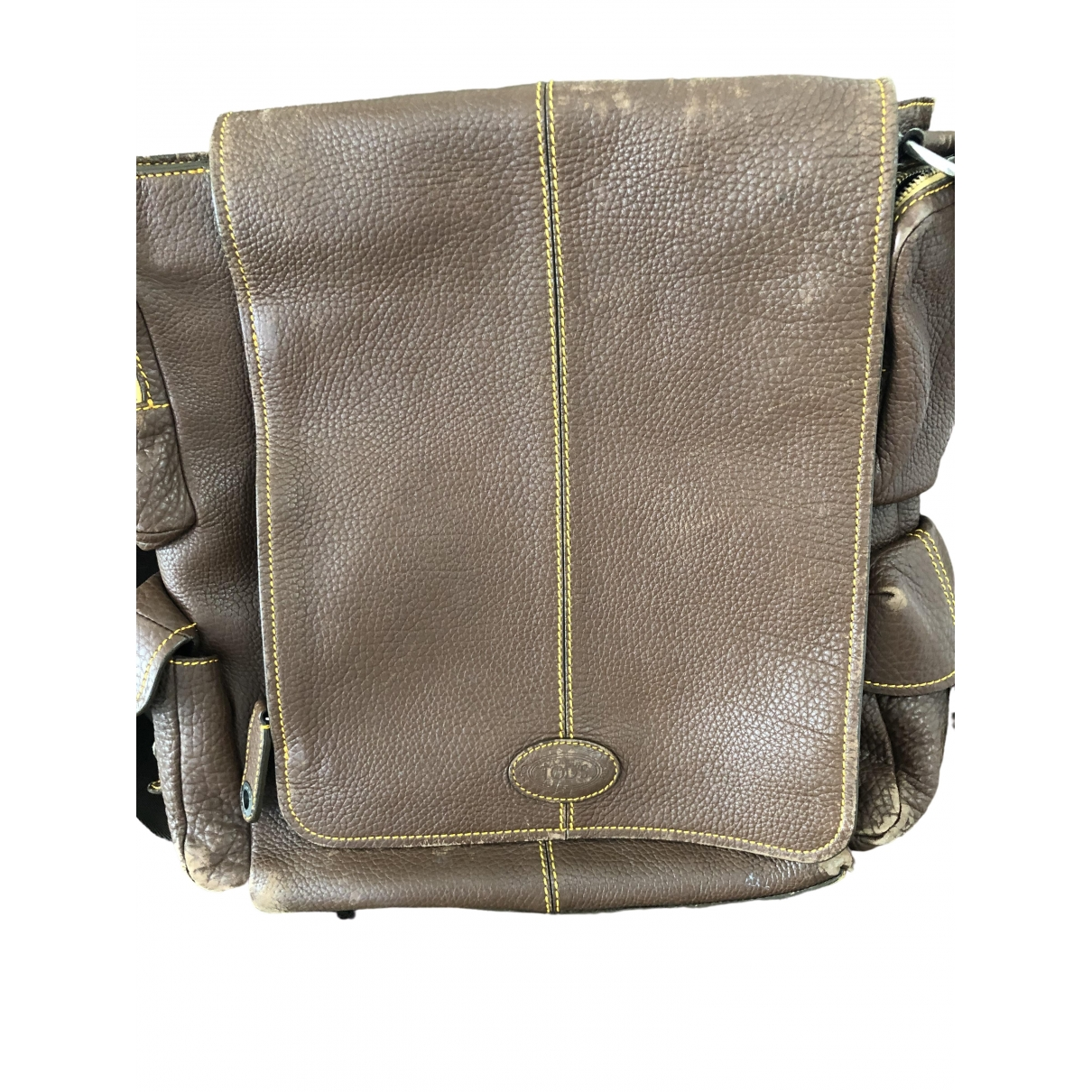 Tod's \N Brown Leather Small bag, wallet & cases for Men \N
