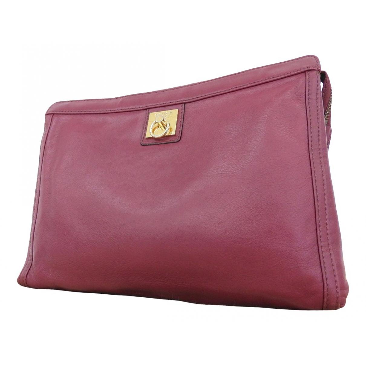 Celine \N Burgundy Leather Clutch bag for Women \N
