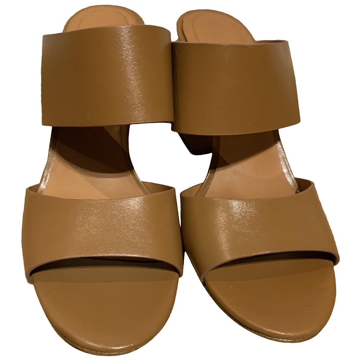 Non Signé / Unsigned \N Brown Leather Sandals for Women 38 EU
