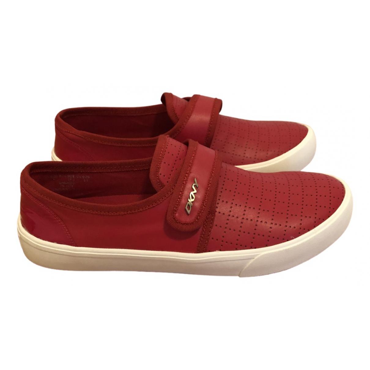 Dkny \N Sneakers in  Rot Leder
