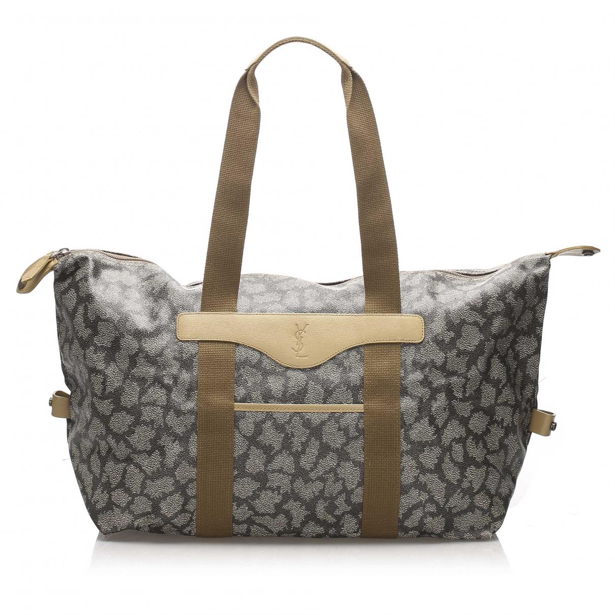 Yves Saint Laurent \N Handtasche in  Grau Leinen