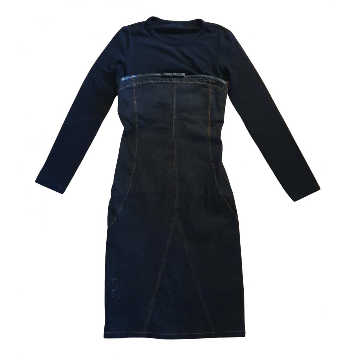 Gianfranco Ferre - Robe   pour femme en coton - elasthane - noir